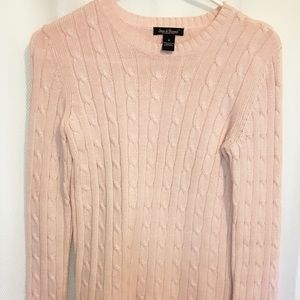 Steve & Bauvy's Light Pink Cable Knit Sweater